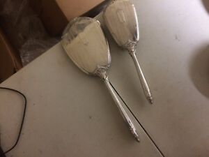Vintage George Webster Co Sterling Silver Vanity Set Hand Mirror