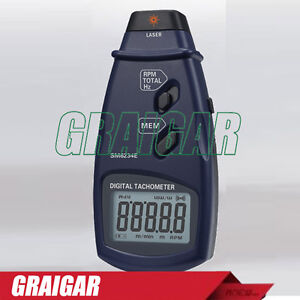 Digital Photo Laser Tachometer Sm6234e Non contact Surface Speed Gauge