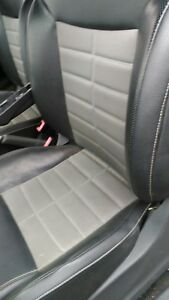 2013 Fiat 500 Turbo 2dr Left Driver And Passenger Seat Black And Grey