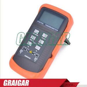 New Dm6802b Lcd Digital Thermometer K type Two Channel Temperature Tester Sensor