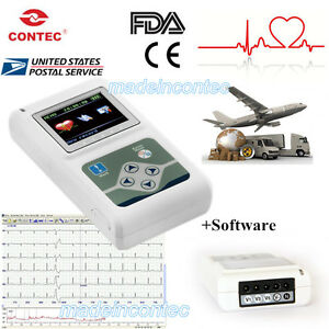 12 channel Ecg ekg Holter System recorder Monitor analyzer Software Newest