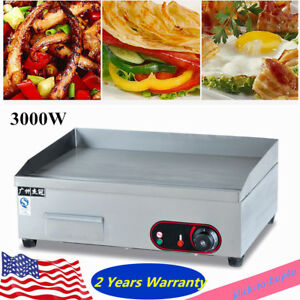3000w Commercial Electric Griddle Grill Teppanyaki Scoop Machine Bbq Plate