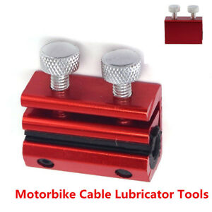 Cable Lubricator Tool Luber Motorcycle ATV Throttle Clutch Brake Cable Tool Red
