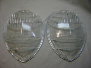 Vintage 1937 Ford Teardrop Headlight Lenses Script Twolite 81a 46