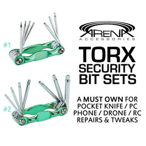 Torx Star Hollow Security Bit Hex Key Sets Pocket Knife Drone Pc Tune Up Repair