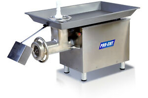 Procut Kg 32 Meat Grinder 3hp 32 220v 3 phase 3300lbs hr By Tor rey