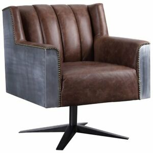 Acme Brancaster Executive Office Chair In Brown Top Grain Leather