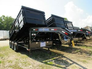 Dump Trailer 16x83 gooseneck 3 7000 48 Sides load Trail brand New 2019