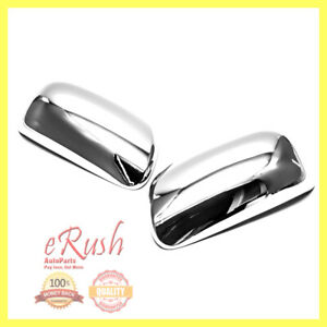 For 2009 2013 Toyota Corolla Matrix 04 09 Prius Chrome Side Mirror Covers Cover