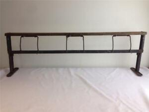Vintage Butcher Craft Paper Holder Rack 39 Inch X 12 Inch Wrapping Dispenser