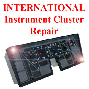 International 4000 4700 4900 Instrument Gauge Cluster Dash Speedometer Repair