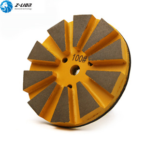 4 Diamond Floor Polishing Pads Grit 100 Concrete Granite Marble Angle Grinder