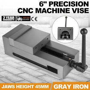 6 Precision Bench Cnc Clamping Vise Fixed Jaw High Accuracy Milling Filing