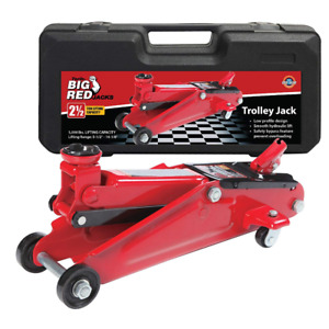 Torin Big Red Hydraulic Trolley Floor Jack With Carrying Case 2 5 Ton Capacity