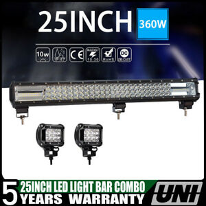 25inch Led Work Light Bar Tri Row 360w Osram For Ford Atv Lamp Vs 24 26 32