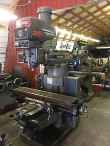 Bridgeport Vertical Milling Machine 4 Hp Series Ii 2 Axis Dro W 6 Riser Block