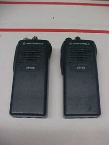 Motorola Ct150 Vhf 4ch 136 174 Portable Radios Aah34kcc9aa1an 2ea As Lot Loc 182