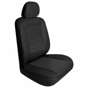 Seat Covers Universal Auto Black Leather Seat Covers For Honda Civic Set Of 2