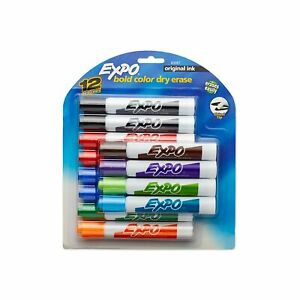 Expo Original Dry Erase Markers Chisel Tip Assorted Colors 12 count