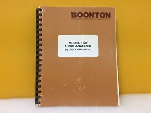 Boonton 1120 Audio Analyzer Instruction Manual