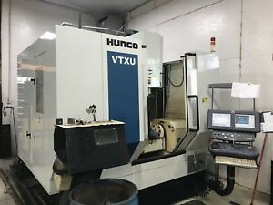 2005 Hurco Vtxu 5 axis Cnc Vmc Cooljet Tsc 32 Tool Ct40 12k Only 9300hrs