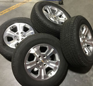 Set Of 4 18 Chevrolet Tahoe Silverado Suburban Wheels And Goodyear Bw Tires