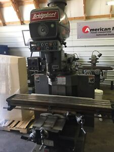 Bridgeport Vertical Milling Machine 4 Hp Series Ii 2 Axis Dro