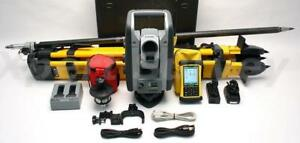 Trimble Rts555 5 Dr Std 2 4 Ghz Robotic Total Station W Nomad Controller Lm80