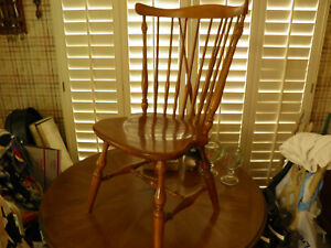 Ethan Allen Heirloom Maple Fiddleback Duxbury Side Chair 10 6020 Nutmeg Nice
