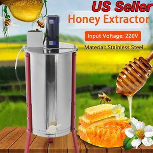 Stainless Steel 3 Frame Honey Extractor Electric Beekeeping Equipment