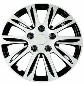 Hubcaps 14 Inch Silver Label For Jeep Vw Toyota Honda Universal Wheel Cover