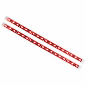 Car Lights Led Strip 12 In Waterproof Red Interior Exterior Car Led Strips 2p