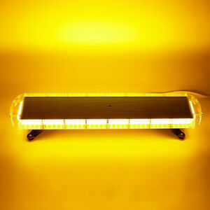 38 Inch 72 Led Amber Emergency Warning Tow Truck Strobe Light Bar Response Flash