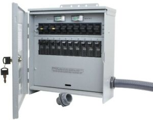 Reliance Outdoor Manual Transfer Switch Generator 7500 watt 30 Amp 10 circuit