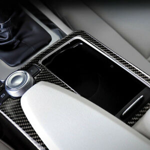 Carbon Fiber Cup Holder Panel Cover Trim For Mercedes Benz C Class E Class W204