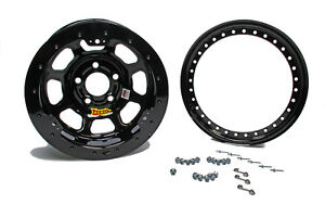 Aero Race Wheels 53 series 15x8 4in Bs 5x4 5 Beadlock Steel Black