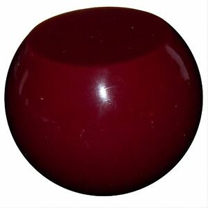 Vintage Flat Top Solid Burgundy Shift Knob 1 2 13 Thread U S Made