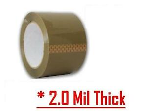 36 Rolls Premium Brown Carton Box Sealing Packing Tape 2 Mil 2 x110 Yard