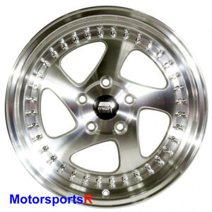 Mst Mt15 Wheels 16 X 8 20 Silver Deep Lip Rims 5x114 3 Stance 02 06 Acura Rsx S