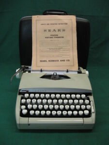 Vintage Sears Citation Portable Typewriter smith Corona Exceptionally Clean