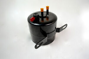 Black Vacuum Canister Reservoir Brake Booster Can With Check Valve