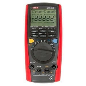 Uni t Ut71e Digital Multimeter Tester Usb Auto Data Log Ac Dc Power Cord Socket