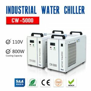 S a Cw 5000 Industrial Water Chiller For 3w 5w Ultraviolet Laser Laboratory In
