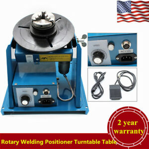 Rotary Welding Positioner Turntable Table 2 5 3 Jaw Lathe Chuck 2 10 R min Usa