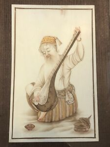 Antique Persian Mughal Miniature Painting