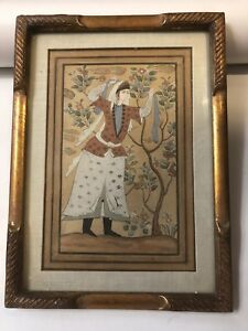 Antique Persian Qajar Safavid Style Miniature Painting