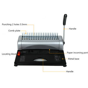 21 Hole Abs Binding Machine Paper Punch Binder With Starter Combs Set 450 Sheet