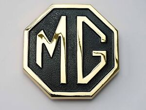 Mgb Mg Midget Jubilee Gold Black Rear Boot Badge Mg Part Cha508