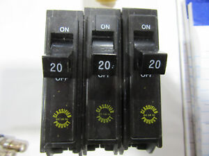 3 Classified Products Chq120 Circuit Breakers 1p 20a 120 240v New Free Ship