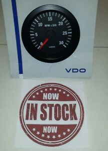 Vdo Black Tachometer 3 3 8 For Low Rpm Motor 333152
